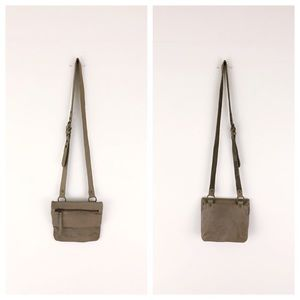 AllSaints Hera Leather Crossbody Bag Taupe Tan